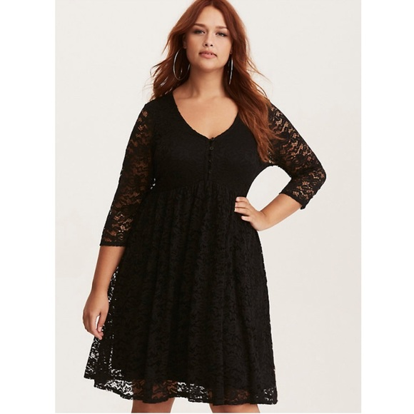 Torrid Dresses Plus Size Black Lace Babydoll Dress Poshmark